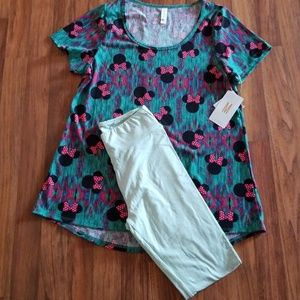 Lularoe Disney Minnie Mouse/OS classic tee outfit